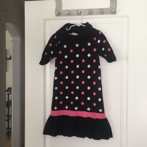 Black Polka-dotted dress from Gymboree, Size 7